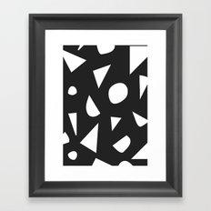 Boom on Black Framed Art Print