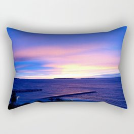 Blue Sunset in Cannes La Bocca Rectangular Pillow