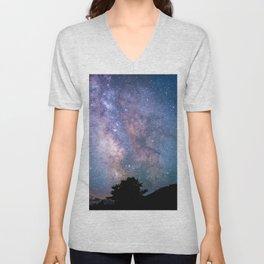 The Night Sky II - glowing stars Unisex V-Neck