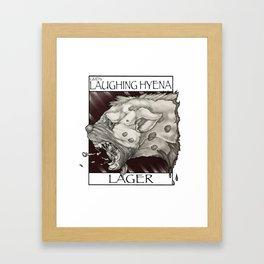 GMDs Laughing Hyena Lager Framed Art Print