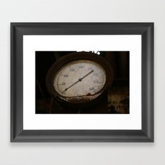 Brown Pressure  Framed Art Print