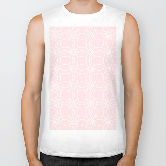Simply Vintage Link White on Pink Flamingo Biker Tank