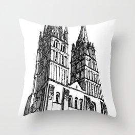 church of the survivor Throw Pillow