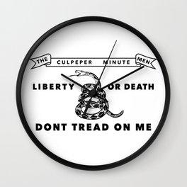 Culpeper Minutemen flag - Authentic version Wall Clock