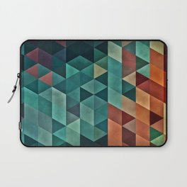 Teal/Orange Triangles Laptop Sleeve
