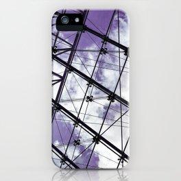 Glass Ceiling V (Landscape) - Ultraviolet Architectural Photography iPhone Case