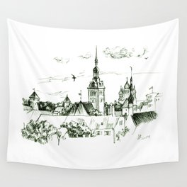 Medieval landscape. Wall Tapestry