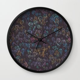 Pixelated Spirals Wall Clock