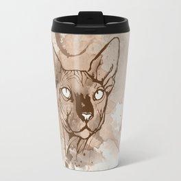 Watercolor Sphynx (Sepia/Coffee stain) Travel Mug