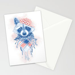 Rocco Raccoon - blue version Stationery Cards