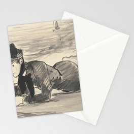 Edouard Manet - Woman Lying on the Beach. Annabel Lee. Stationery Cards