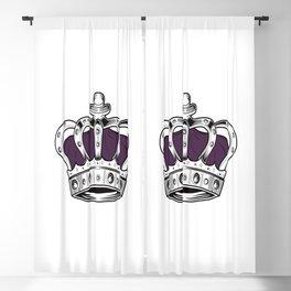 Crown - Purple Blackout Curtain