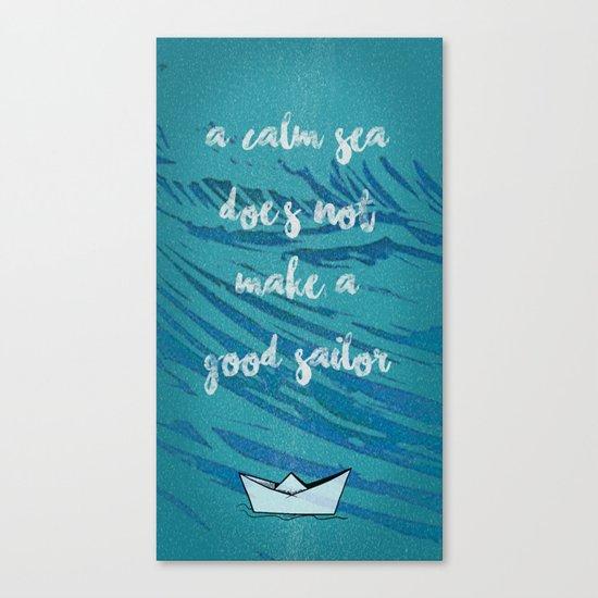 A CALM SEA Canvas Print