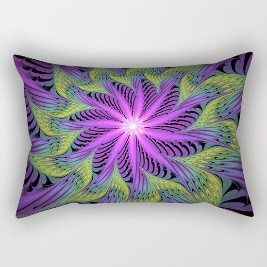 The Light from the Center, Fantasy Fractal Art Rectangular Pillow
