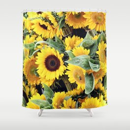 Happy Sunflowers Shower Curtain