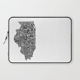 Typographic Illinois Laptop Sleeve