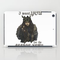thorin iPad Cases featuring Uncle Thorin by AlyTheKitten
