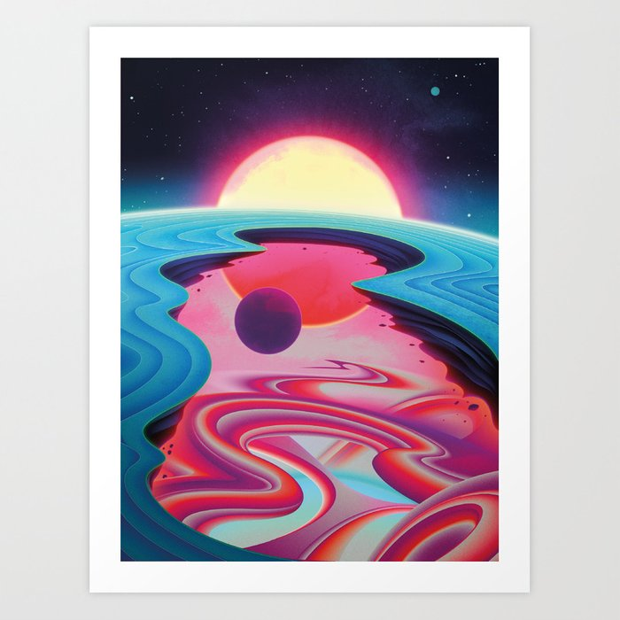 """""""Life Beyond the Pale Blue Dot"""" by Sam Chivers for Nautilus Art Print"""