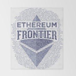 Ethereum Frontier Grunge original Throw Blanket