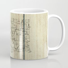 Washington State Rustic Map Coffee Mug