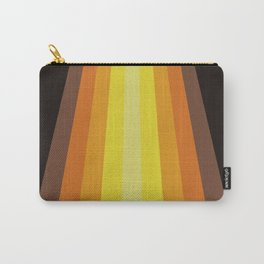 Retro Warm Tone 70's Stripes Carry-All Pouch