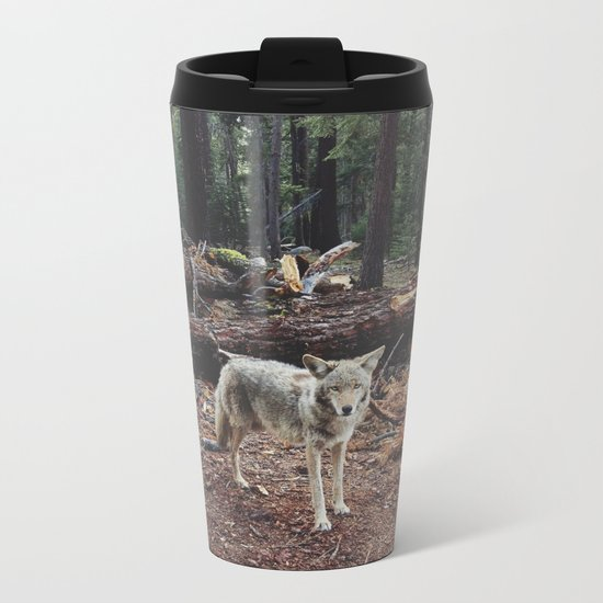 Injured Coyote Metal Travel Mug