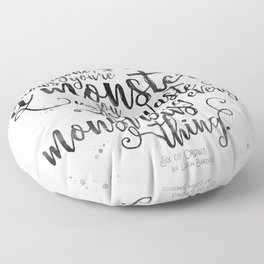 Six of Crows - Monster - White Floor Pillow