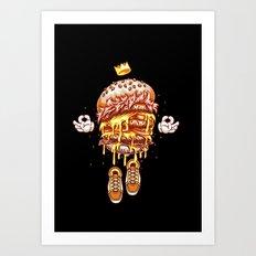 King Burger Art Print