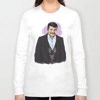 neil gaiman Long Sleeve T-shirts featuring Neil by Myrtle Quillamor