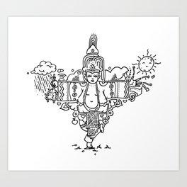 Little Buddha Art Print