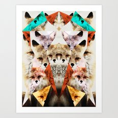 WHAT THE FOX SAY Art Print