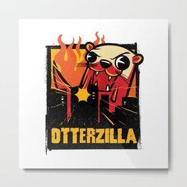 OTTERZILLA Metal Print
