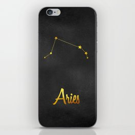 Aries Constellation in gold iPhone Skin