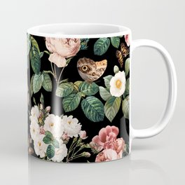 Floral and Butterflies Coffee Mug