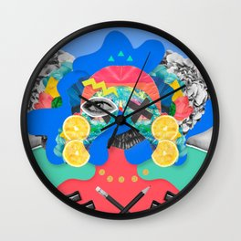 Collage Fest Wall Clock