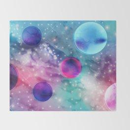 Vaporwave Pastel Space Mood Throw Blanket
