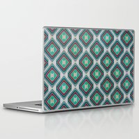 kilim Laptop & iPad Skins featuring Pistachio Persian Kilim by Katayoon Photography