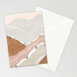 Abstract mountainous shapes Stationery Cards