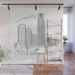 Santiago en línea Wall Mural