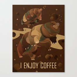 Tardigrade Enjoys Coffee Canvas Print