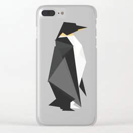 Fractal geometric emperor penguin Clear iPhone Case
