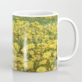 Garden of yellow marigolds Coffee Mug