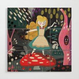 Alice in Wonderland Wood Wall Art