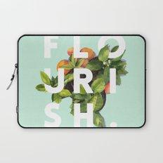 Flourish #society6 #buyart #typography #artprint Laptop Sleeve