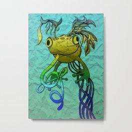 Psychoactive Frog Metal Print
