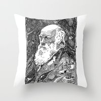darwin Throw Pillows featuring 'Darwin' by Sarah King by We Are West Coast