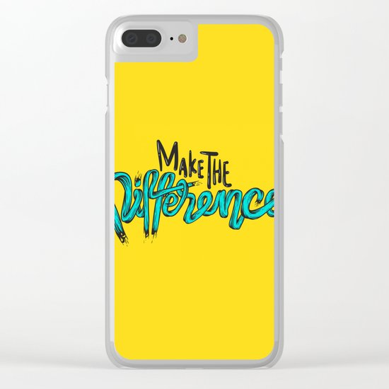 Make The Difference 1 Clear iPhone Case