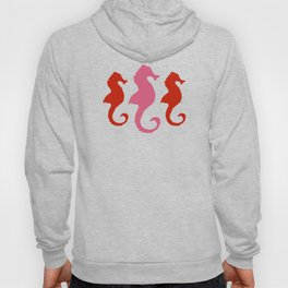 Seahorse Trio and Polka Dots Pinky Coral Hoody