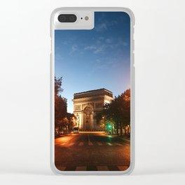 Parisian Sunrise Clear iPhone Case