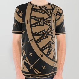 Ancestors (Black Brown) All Over Graphic Tee